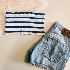 Abercrombie Striped Tube Top